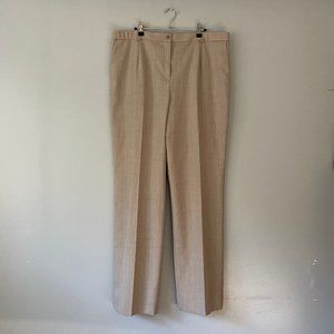 Pendleton Virgin Wool Tan Trouser Plus Size Pants